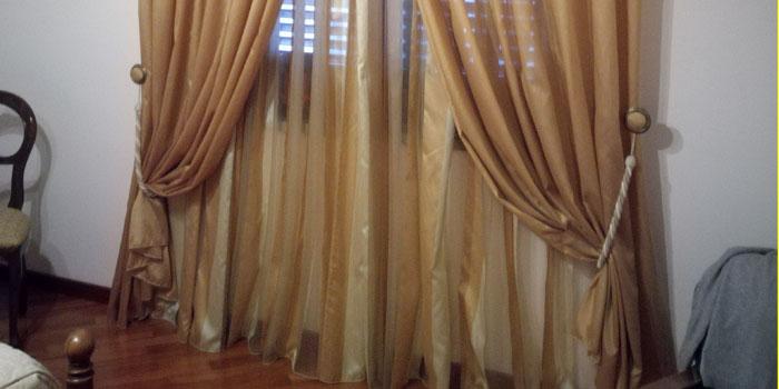 cordoni con tenda classica beige